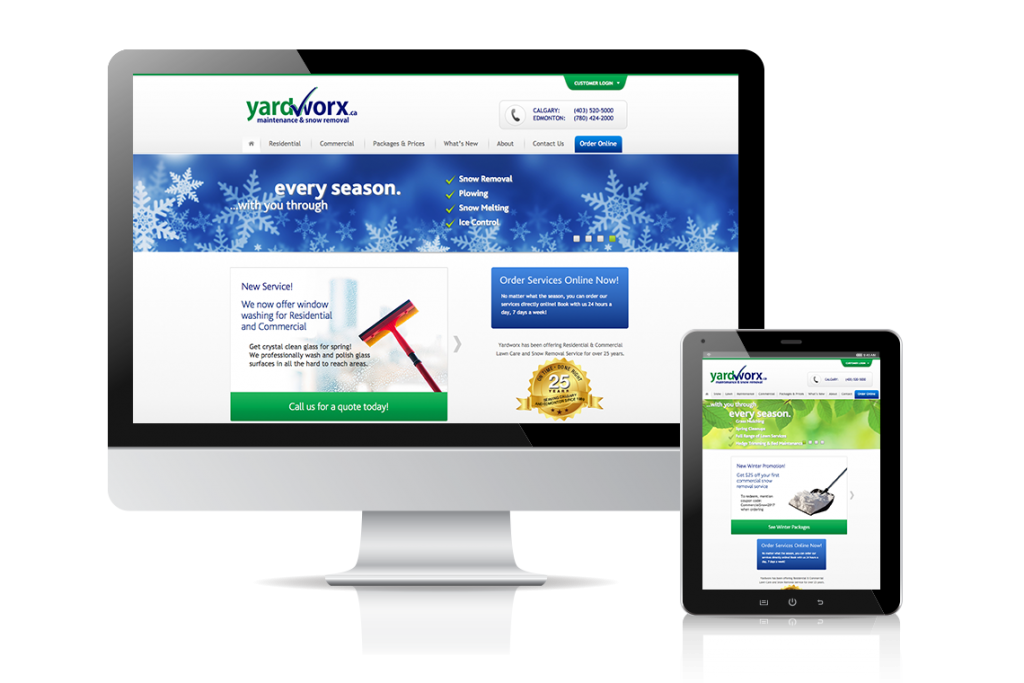 Yardworx Website Design