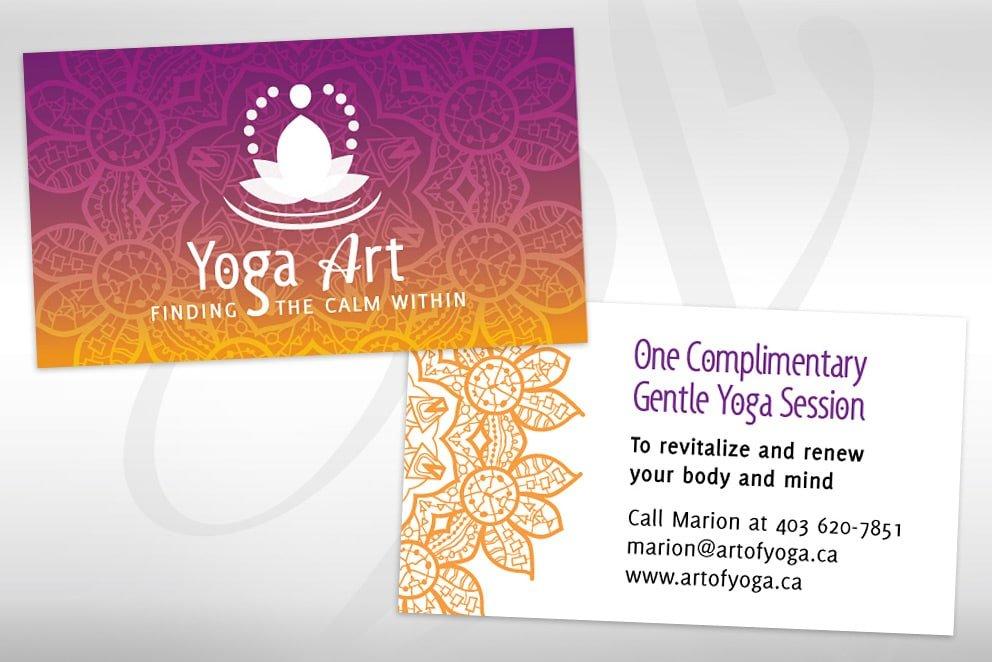 Yoga Art Card