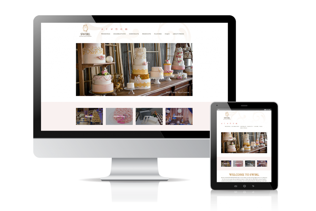 Swirl Custom Cakes Website