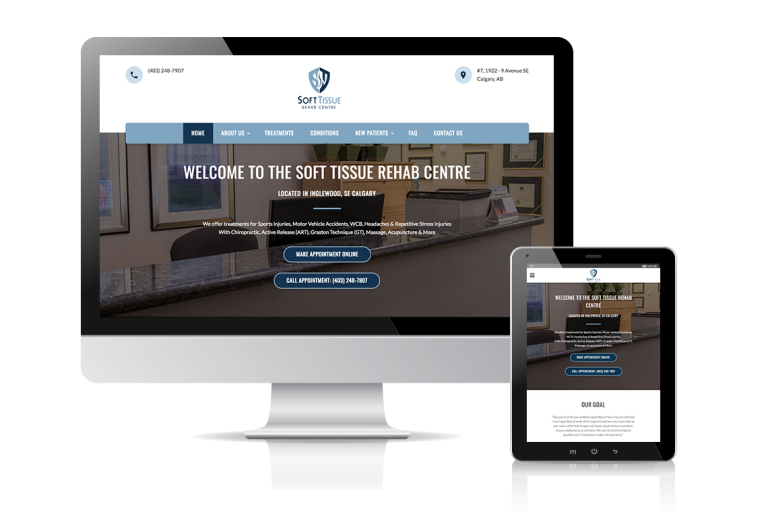 Soft Tissue Rehab Website Design
