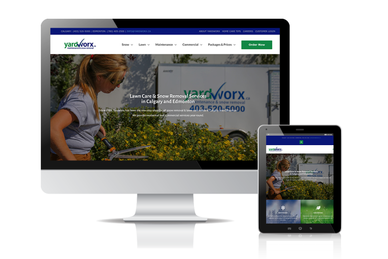 Yardworx Web Site Design