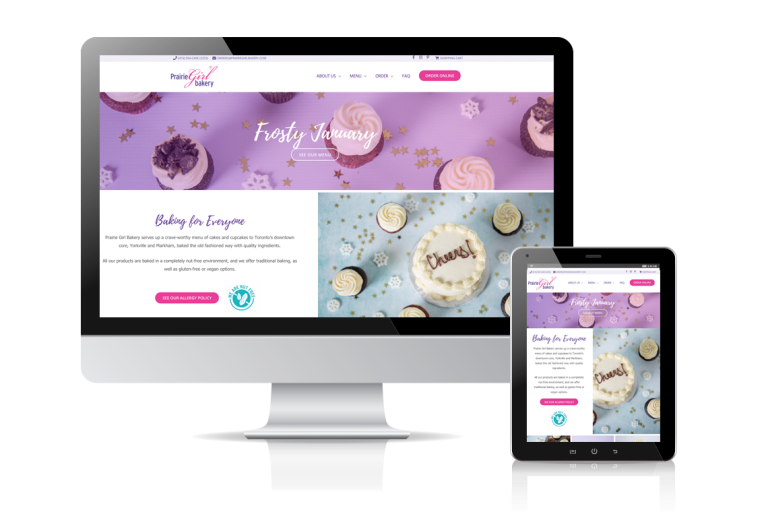 Prairie Girl Bakery Website Design