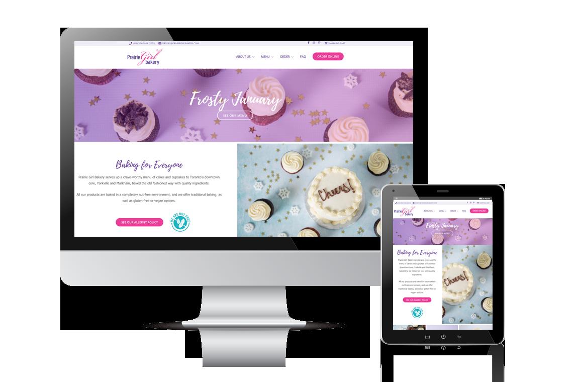 Prairie Girl Bakery Website Design